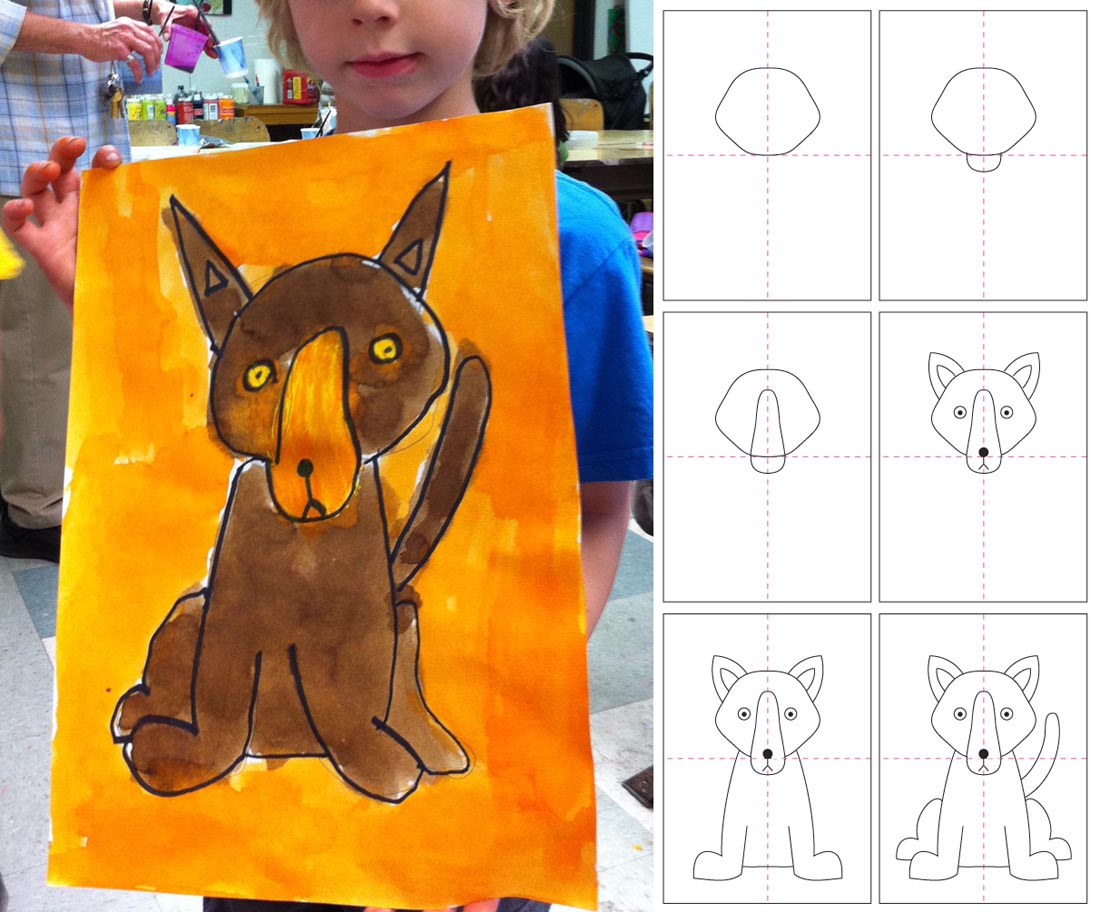 How to Draw a Dog | Art Projects for Kids