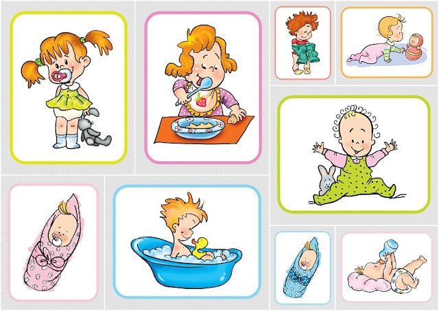 Clipart de Bebés Retro.