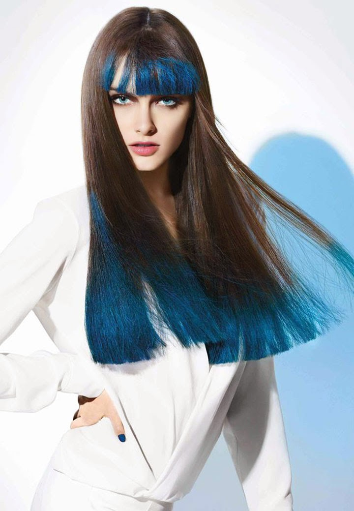 L'Oreal Hair Chalk, Hair chalk, colored hair, hair color, L'Oreal, Colorful, Color Lovers, Hair trends of 2014, Sexy hair, Color lovers, Hair Chalk Blue