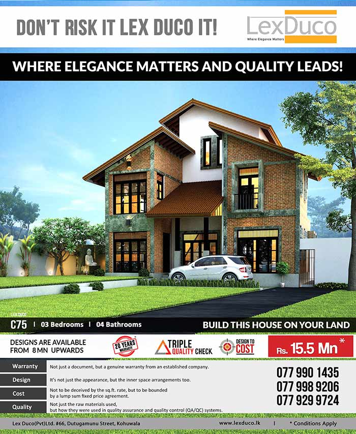 3 bedroom lex duco c75 is only 15 5 mn on your land for Cost to build a house in mn