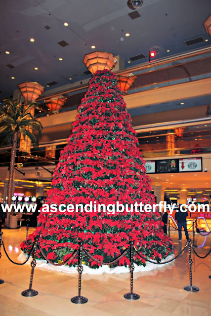 Tropicana Atlantic City 25-foot Poinsettia Tree located in Palm Walk