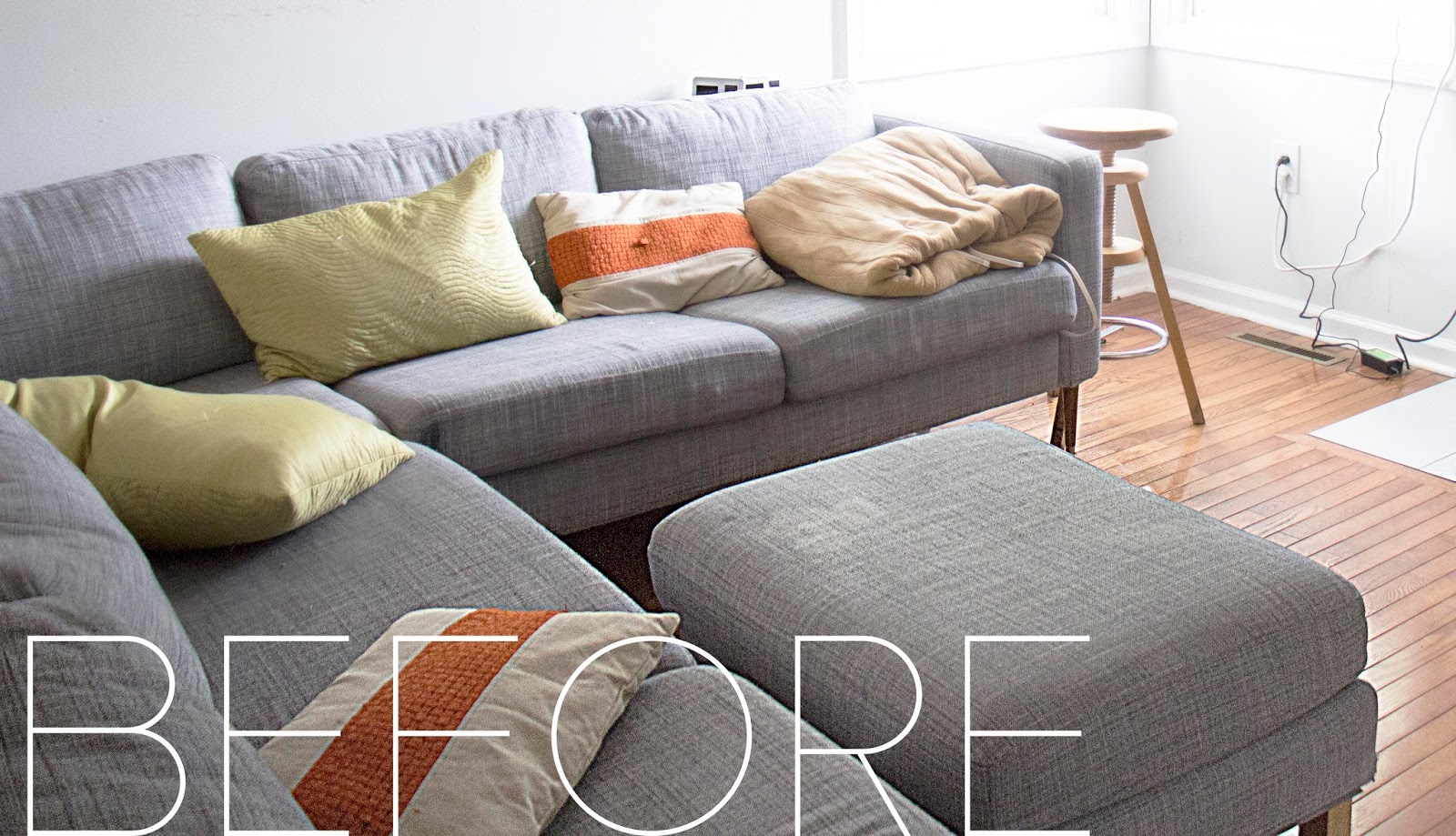 Grosgrain Finally AFFORDABLE IKEA sofa slipcovers