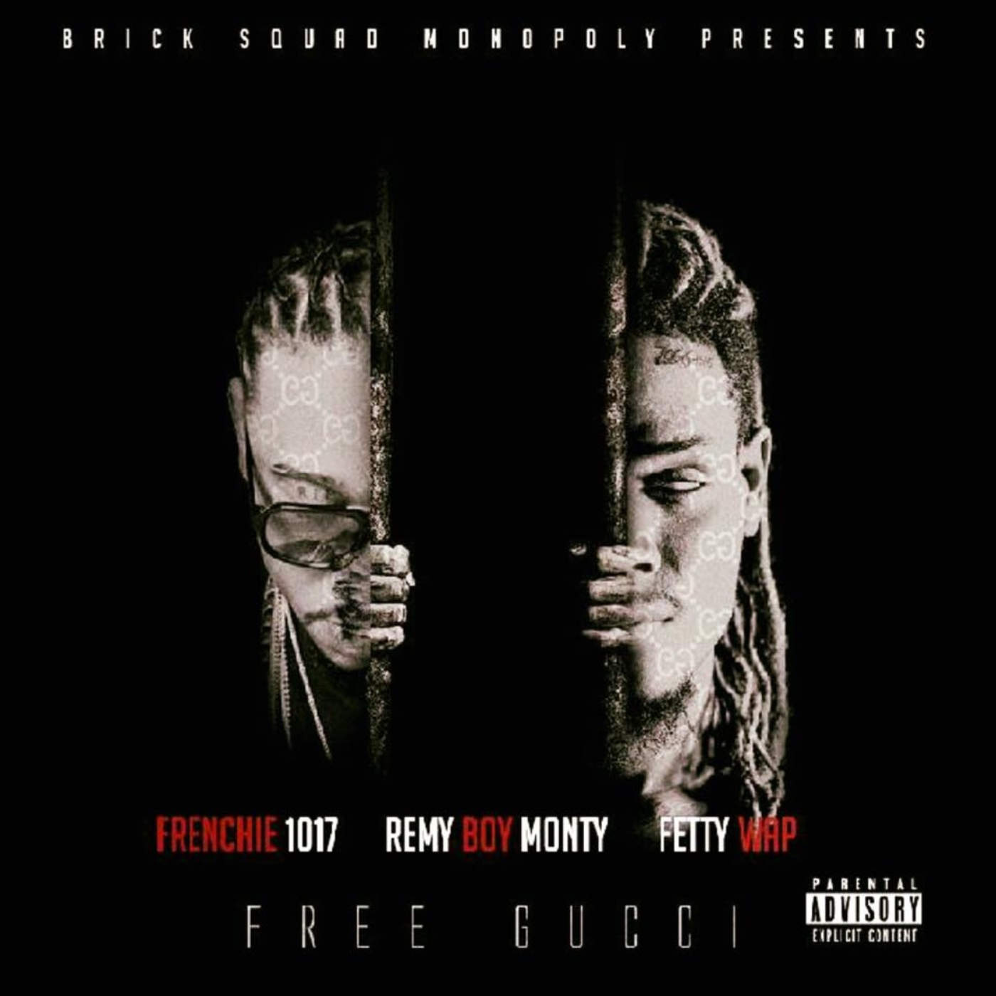 Frenchie 1017, Remy Boy Monty & Fetty Wap - Free Gucci - Single Cover
