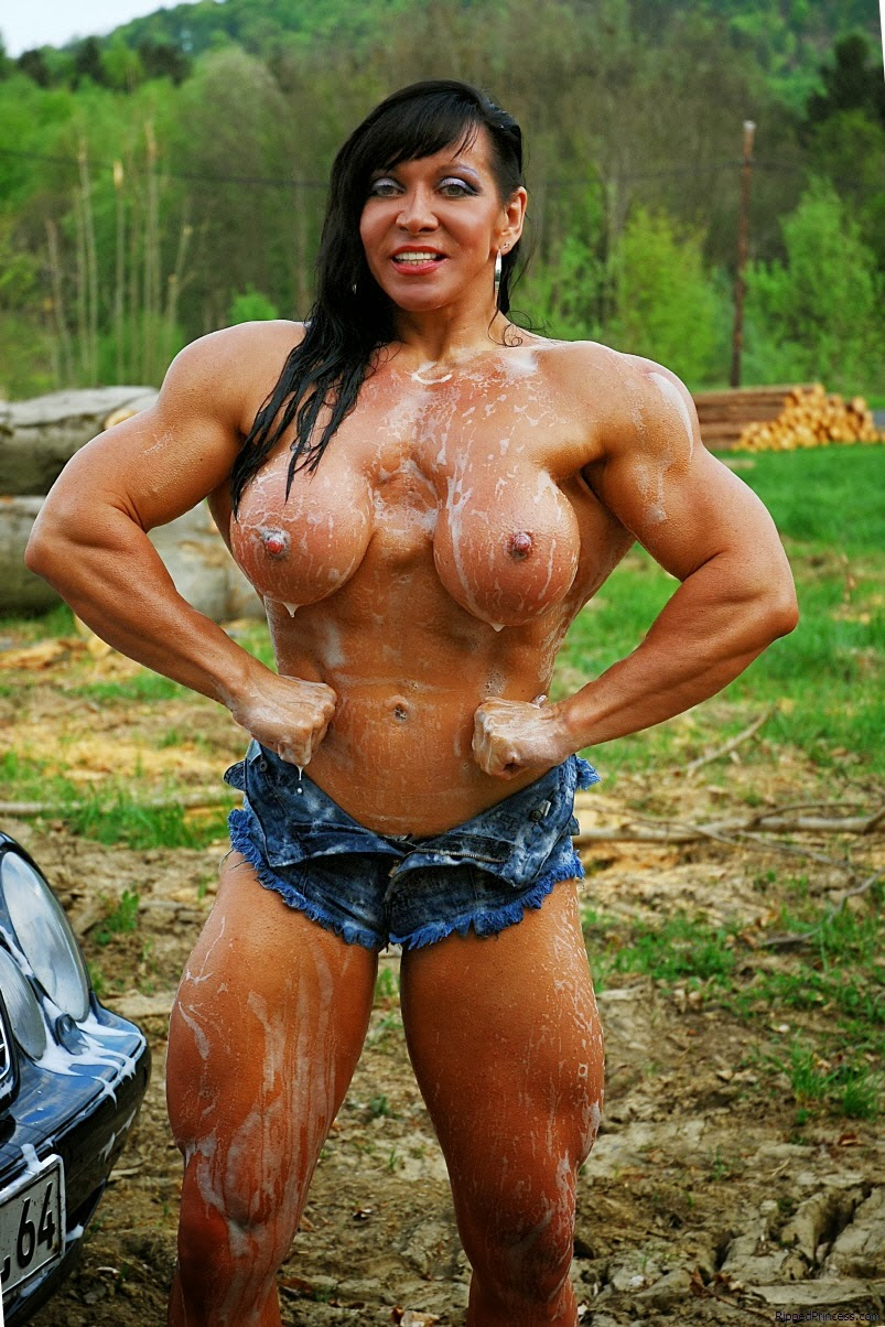 Muscular Woman Topless 64