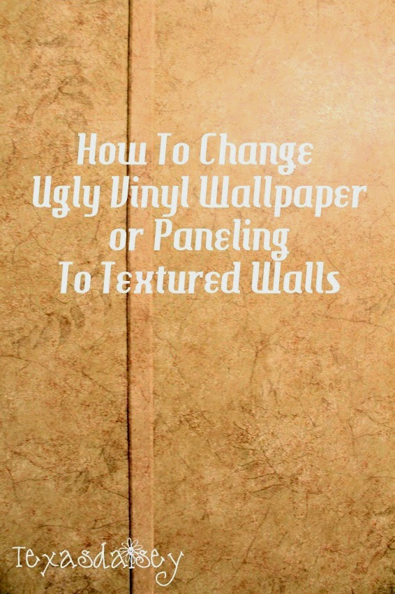 texasdaisey creations how to change ugly vinyl wallpaper or paneling to textured walls. Black Bedroom Furniture Sets. Home Design Ideas