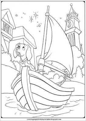 free101 dalmation coloring pages - photo#48
