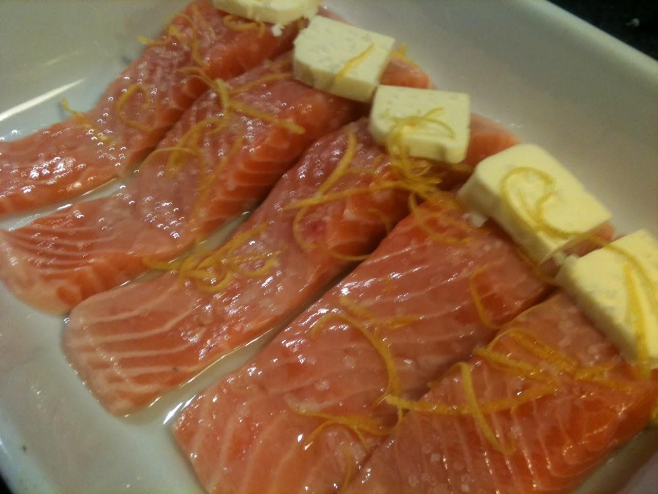 SablesMad: Laks m/citron & smør bagt i ovn