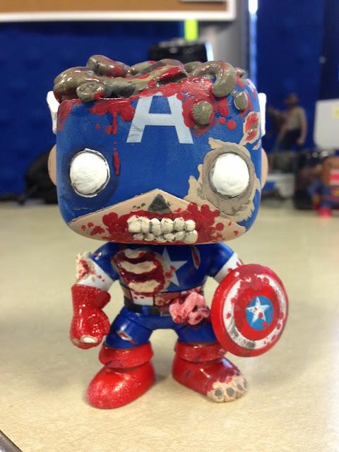 Lair Of The Dork Horde Zombie Captain America Custom