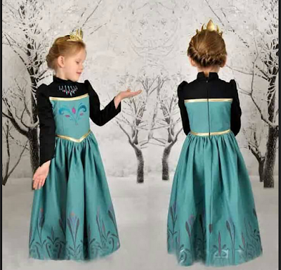 baju anak frozen disney princess elsa