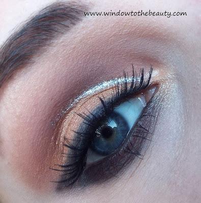brzoskwinia ze srebrnym makijaż