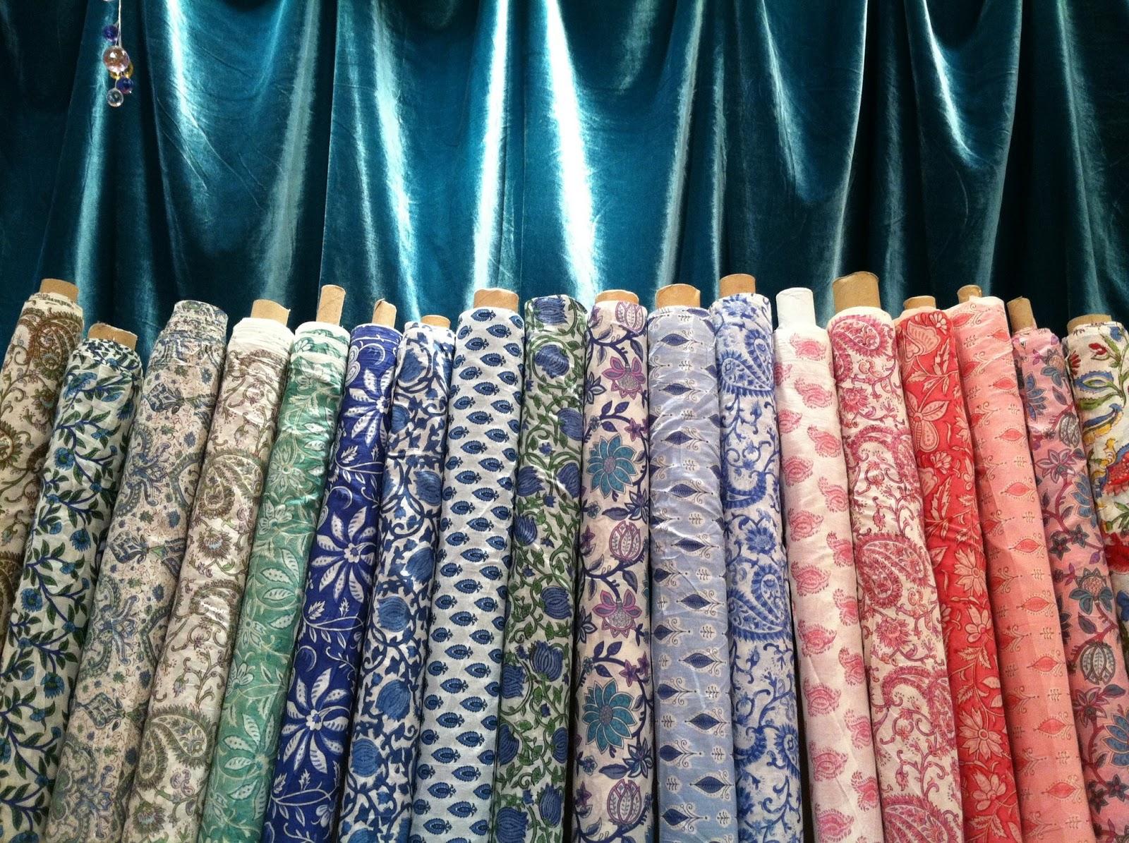Common Thread Lightweight Hand Woodblock Printed Cotton Voile Fabrics