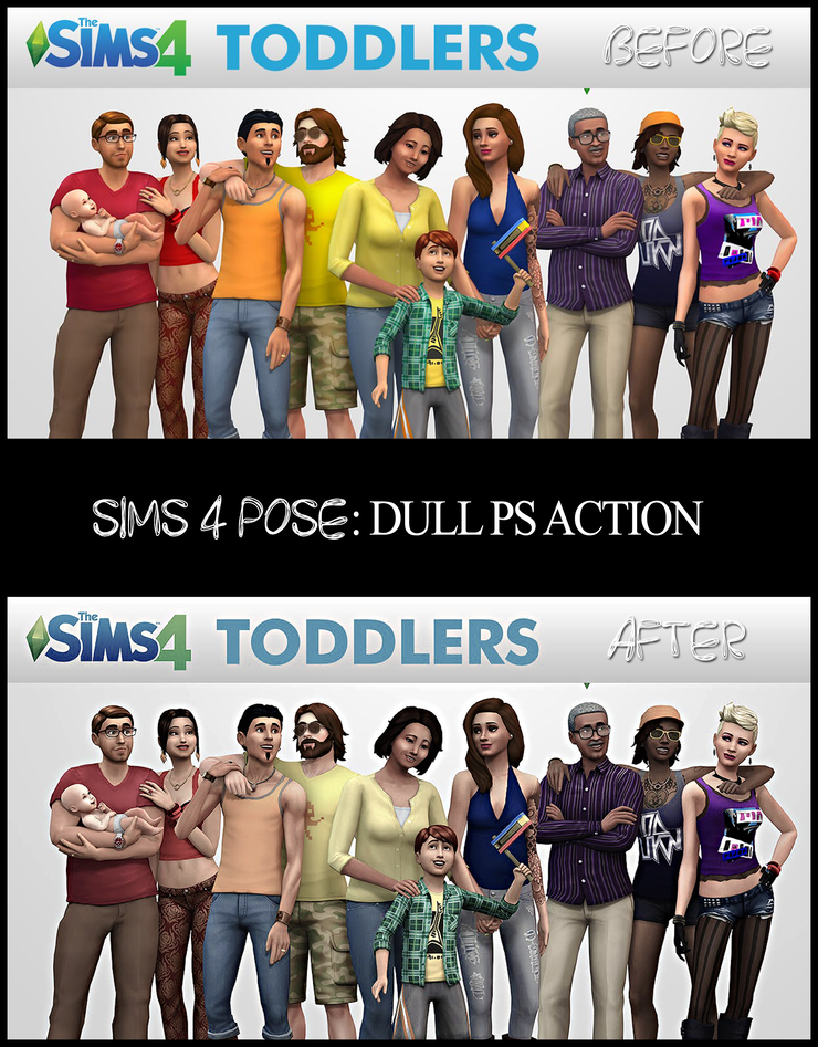 Download Sims 4 Pose: Sims 4 Photoshop Action: Dull {PS} - ❤Sims 4
