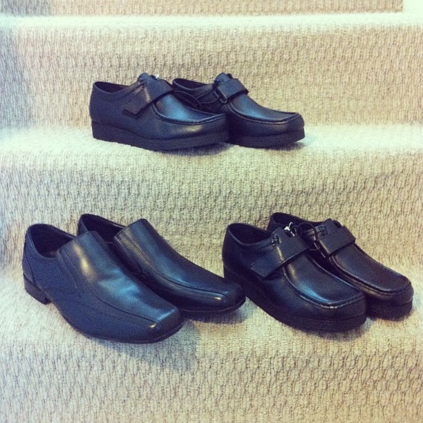 Asda Black Leather Court Shoes