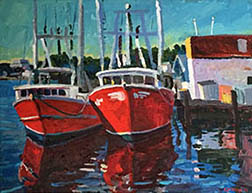 Stephen Moore artist Beaufort Boats Too