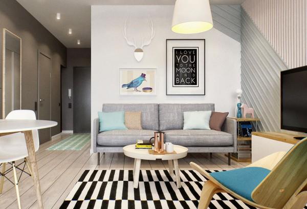 Inspiración para decorar una vivienda de 40 m2. Small & Low Cost