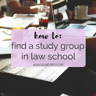 How to start a law school study group. Should you join a law school study group? The benefits of a study group in law school. How to find a law school meetup group. Why you should go to a law school meetup. What is a law school meetup. law school advice. law school tips. 1L tips. 1L study tips. | brazenandbrunette.com