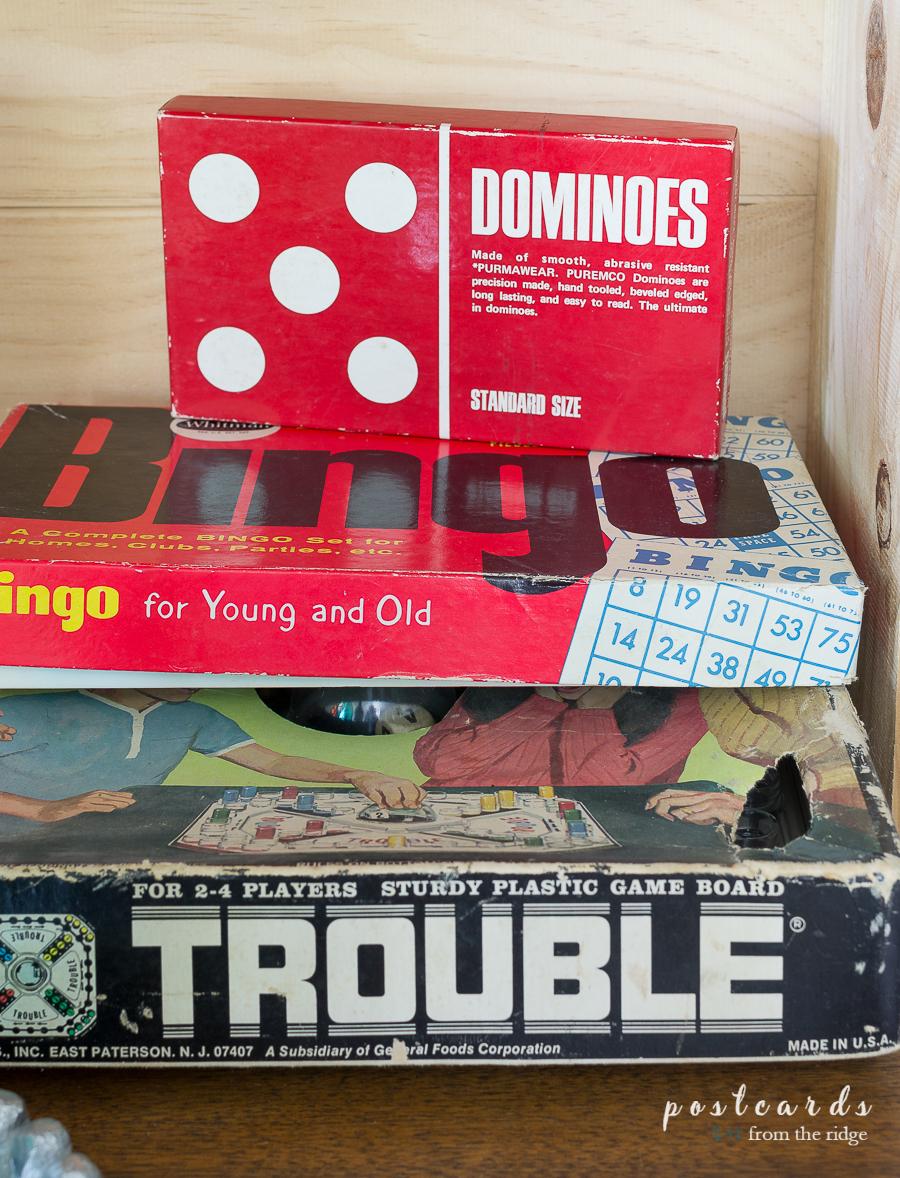 old bingo and dominoes games
