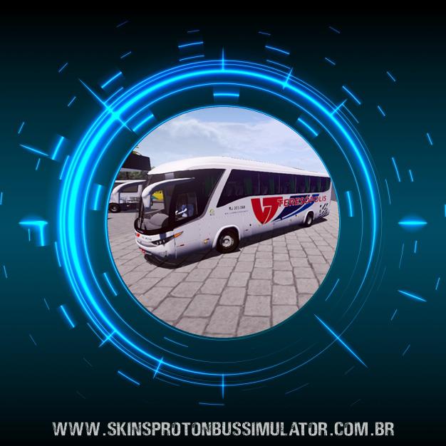 Skin Proton Bus Simulator Road - G7 1200 MB O-500 RS Viação Teresópolis
