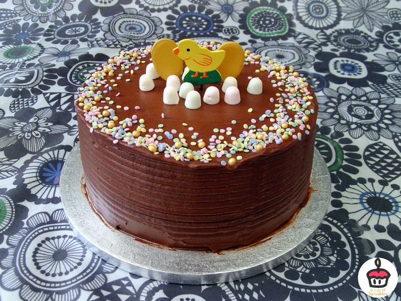 Easter Cake Vanilla Cake 2 Ingredients Chocolate Frosting A