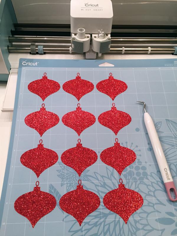 Cutting ornaments on Cricut
