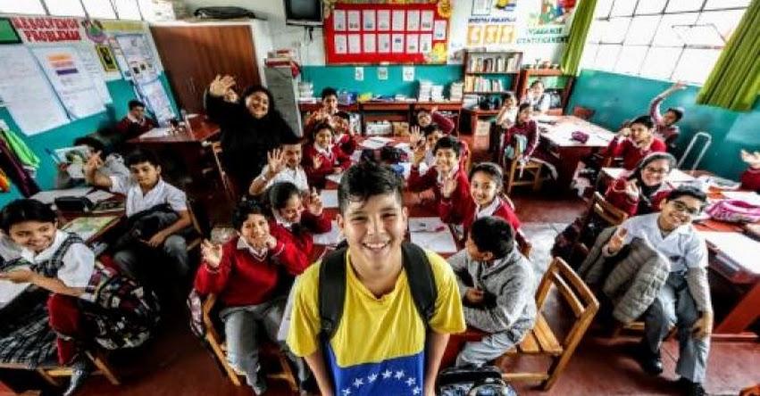 Más de 26 mil niños y adolescentes venezolanos estudian en colegios del Perú, algunos escolares fueron víctimas de bullying