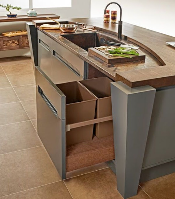 Kitchen Island With Trash Storage