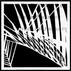 "Palm Fronds Silhouette Small s238 6"" x 6"""