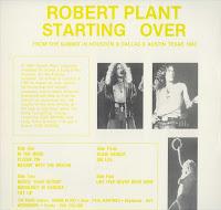 Reliquary Robert Plant Starting Over 1983 Vinyl Rip