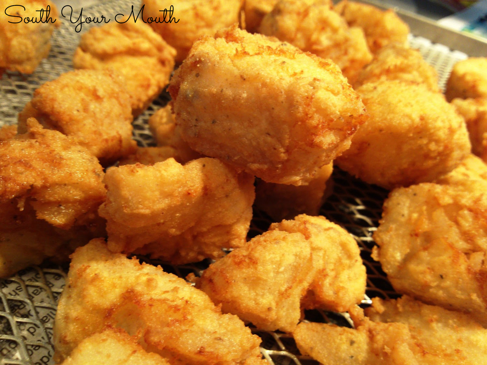 South your mouth southern fried fish nuggets for Buttermilk fish batter