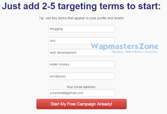 Get targetted twitter followers free trial