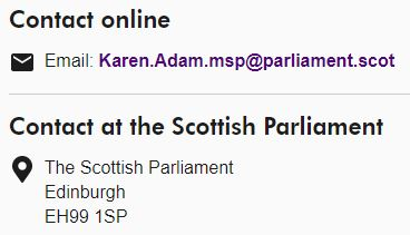 Karen Adam is now the MSP for Banffshire and Buchan Coast