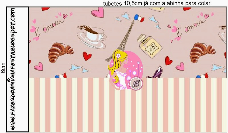Free Printable Nucita Candy Bar Labels for a Blondie Quinceanera.