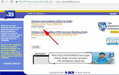 cara mengubah atau mengganti user id bca