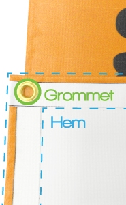Vinyl Banners: Hems and Grommets