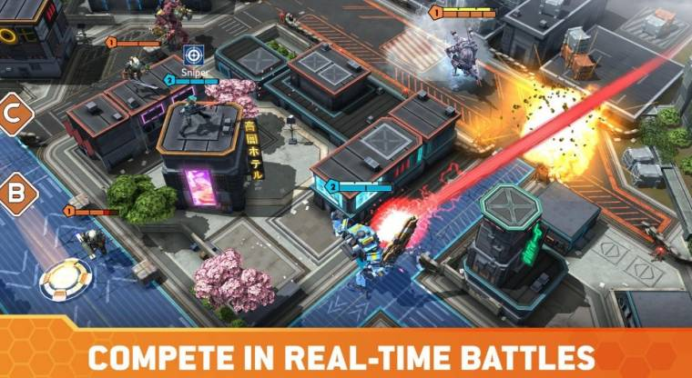 Compete in real-time battle