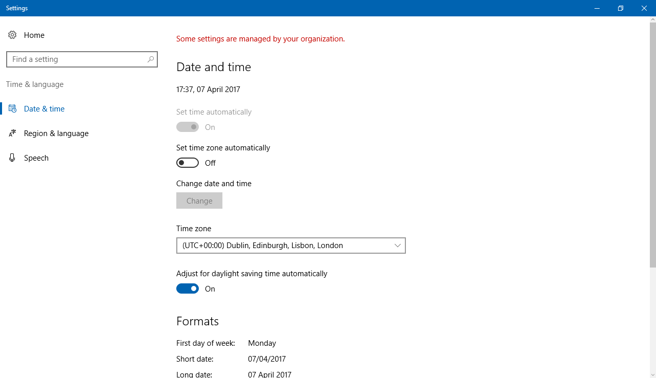 how to set time server windows 10
