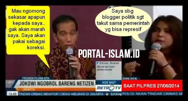 Janji Jokowi kepada Netizen saat PILPRES: Saya Tidak Marah Dikritik Sekasar Apapun; NYATANYA SETELAH BERKUASA???