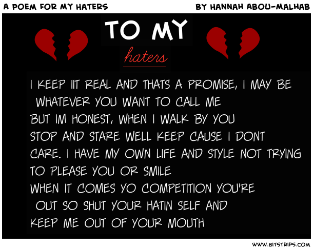 I Hate My Mom Poem: To All My Haters Quotes. QuotesGram