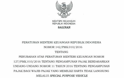 PMK 141, 142 Tahun 2016, Aturan Baru Pengampunan Pajak (Tax Amnesty)