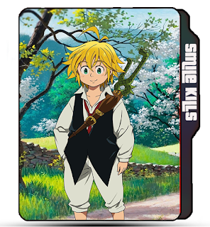7 Deadly Sins folder icon, Ser Meliodas, Sword, Anime icons, Anime tv show icons, Blonde guy, Cute boy.