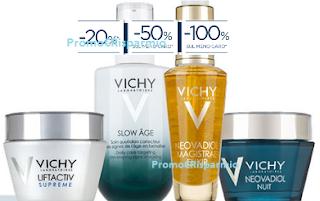 Logo Vichy : - 20%, -50%, -100% = scegli tu lo sconto