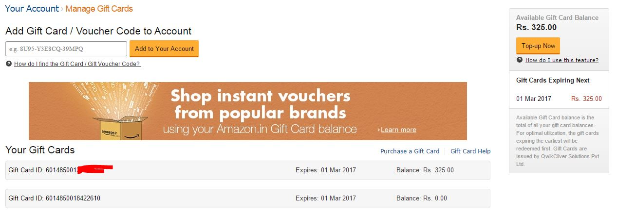 how to add money to amazon account with gift card