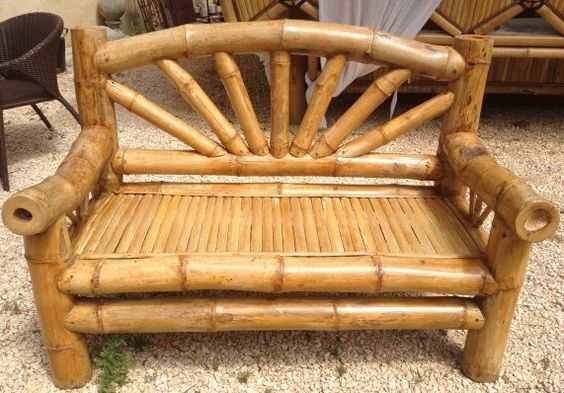 Contoh Kursi Bambu yang keren  Kerajinan Keren