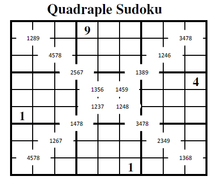 Quadruple Sudoku (Fun With Sudoku #17)