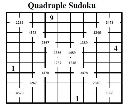 Quadruple Sudoku (Fun With Sudoku #17)