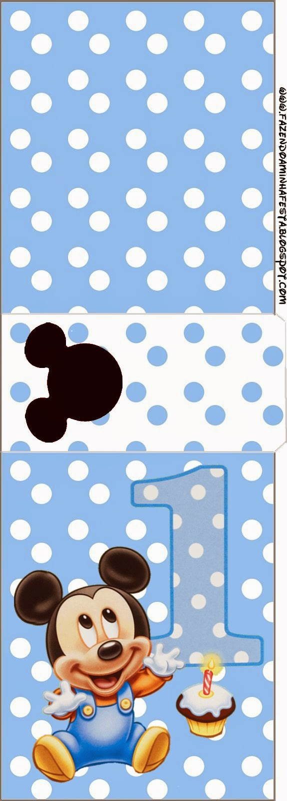 Tic Tac labels for a  First Year of Mickey with Polka Dots.