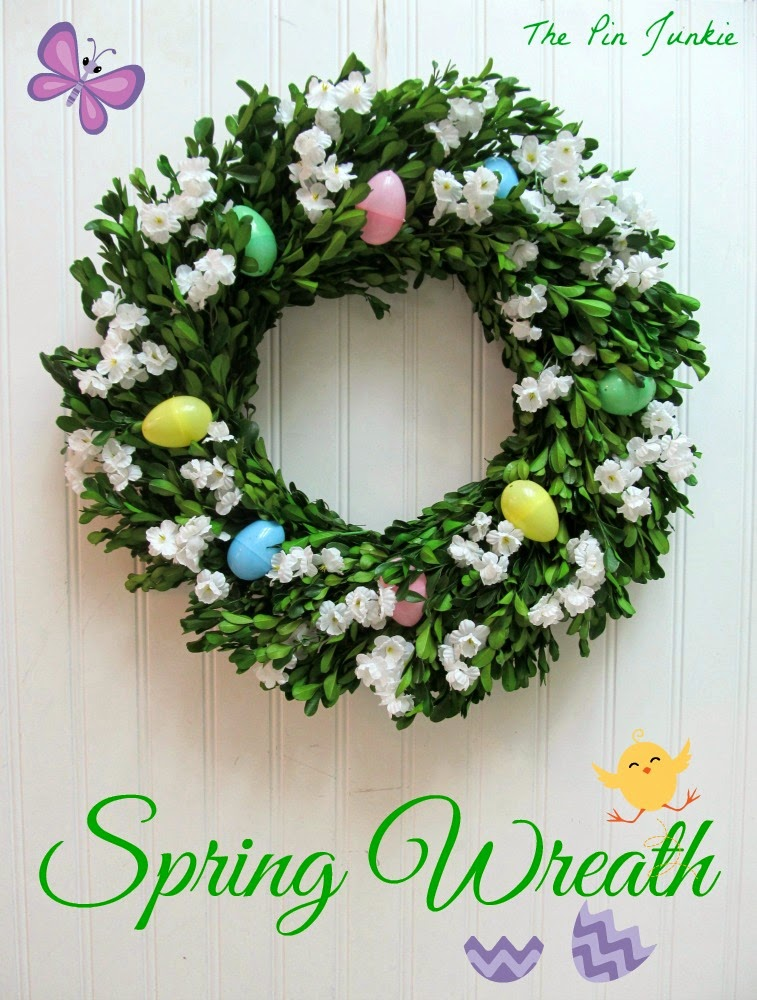 spring easter wreath