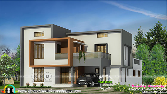 2703 sq-ft flat roof home design