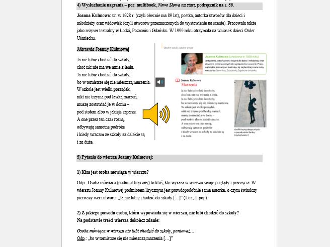 Sowia Wiedza Profil Edukacyjny Z Języka Polskiego 9