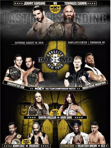 WWE NXT TakeOver – Brooklyn 4 18th August 2018 450MB HDRip 480p x264